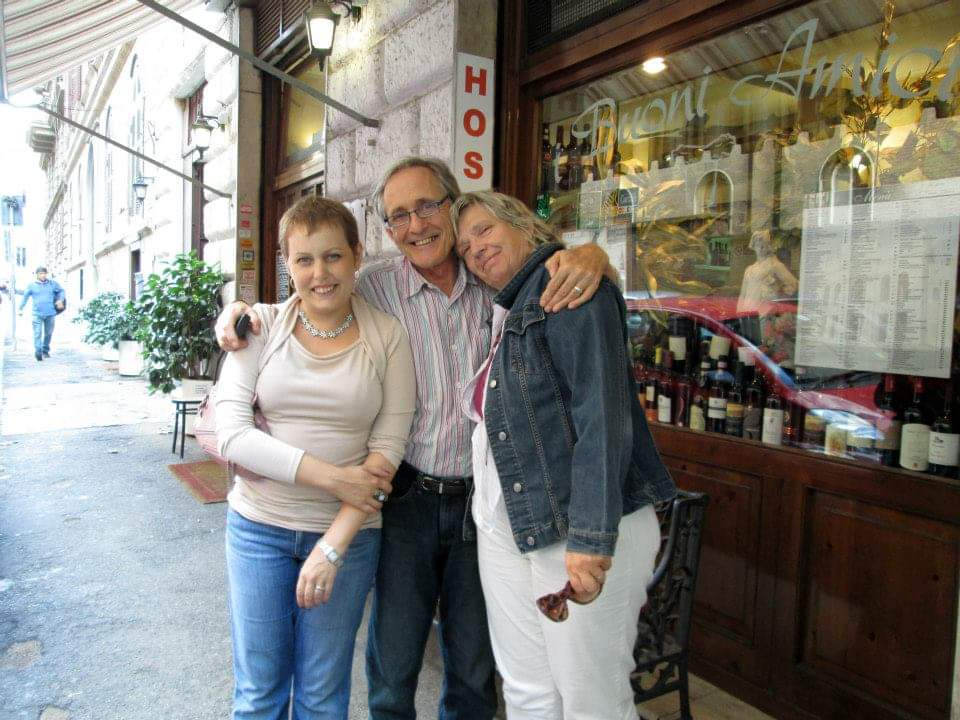 Lillian, Heidi, MArk in Rome