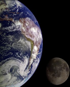 Earth seen from the space